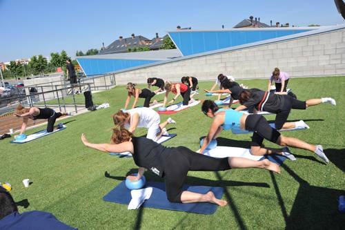 Pilates a l'aire lliure els dimarts al matí d'aquest juliol