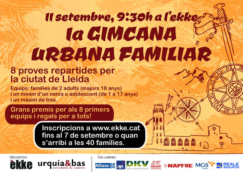 Gimcana urbana familiar