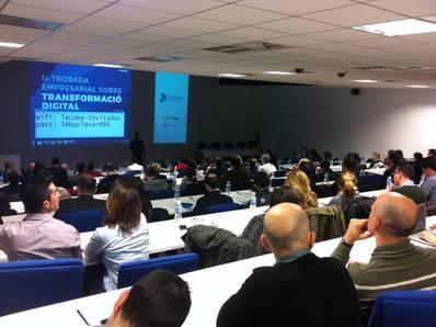 1a jornada empresarial sobre TRANSFORMACIÓN DIGITAL #LleidaDigital en el auditorio de Reskyt en el Palau de Anglesola.