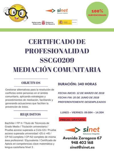 CERTIFICADO DE PROFESIONALIDAD SSCG0209