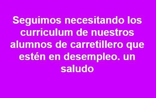 Empresas de Tudela nos demandan nuestros alumnos con el carnet de carretillero