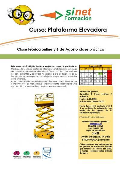 CURSO DE PLATAFORMA ELEVADORA