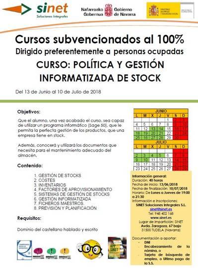 CURSO: POLÍTICA Y GESTIÓN INFORMATIZADA DE STOCK