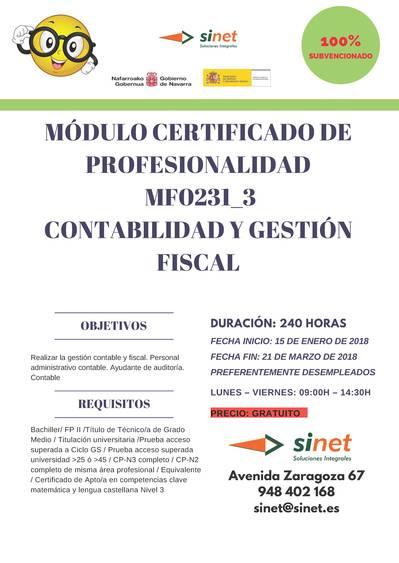 MÓDULO CERTIFICADO DE PROFESIONALIDAD MF0231_3
