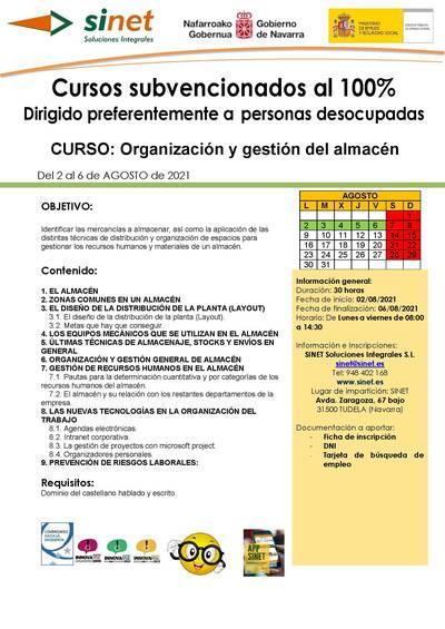 ORGANIZACIÓN Y GESTION DEL ALMACEN