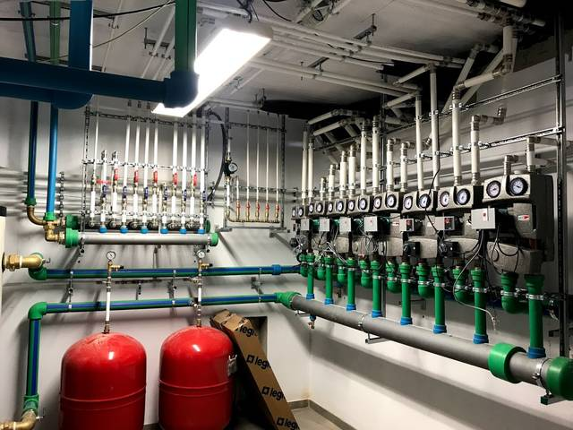 Sala de producció i distribució geotèrmica