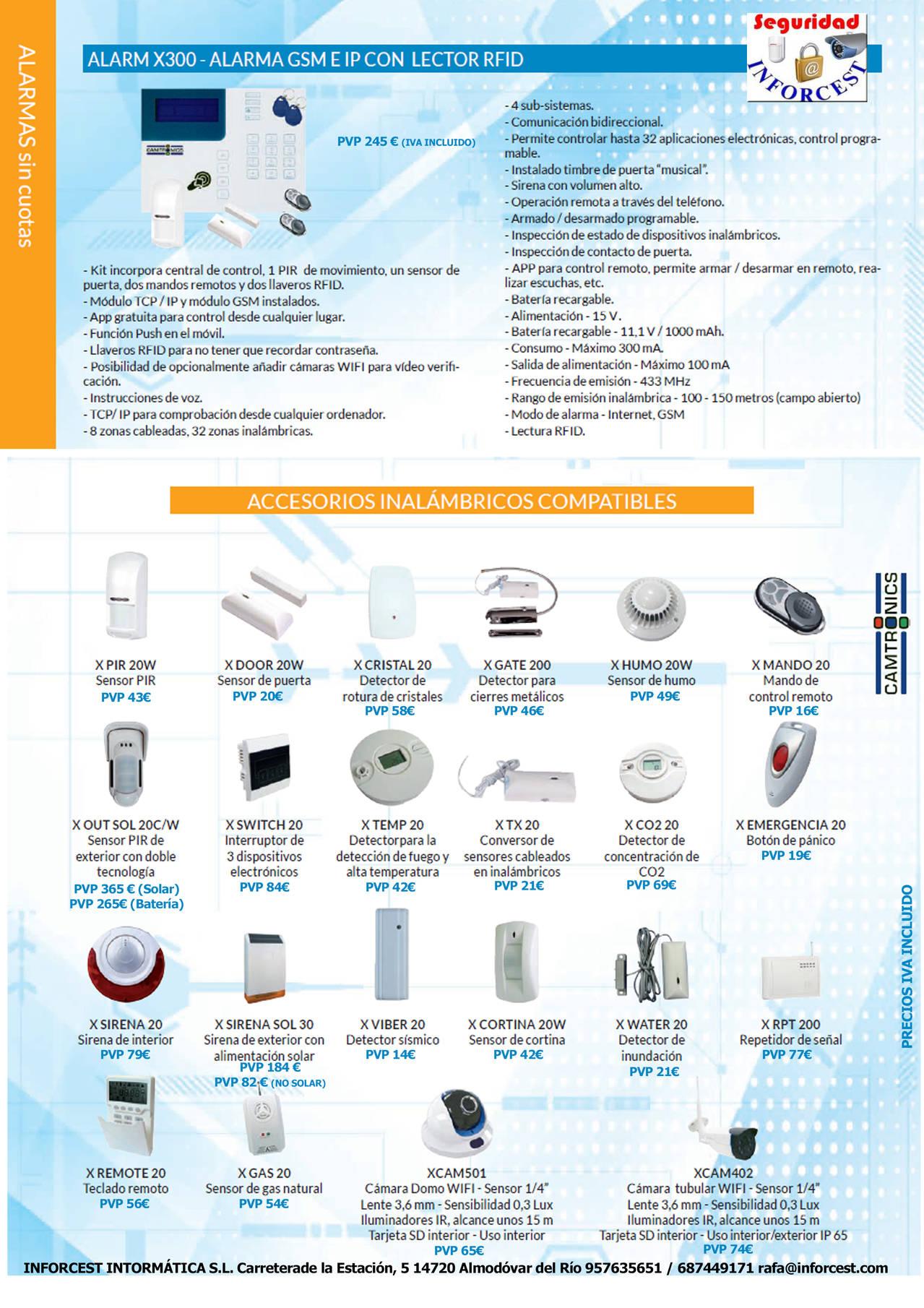 ALARMX300 - Alarma GSM e IP con lector RFID