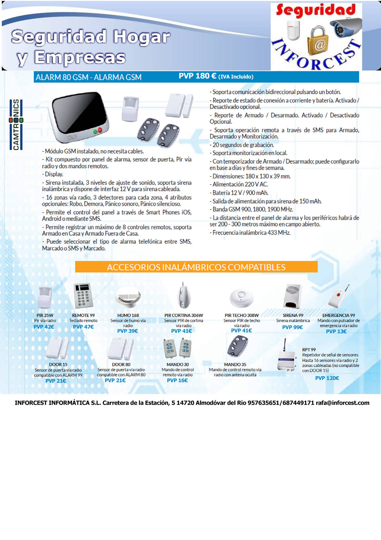 ALARM80GSM - Alarma GSM