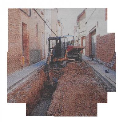 Renovación de la red de saneamiento en la Calle Oriente (El Palau d'Anglesola)