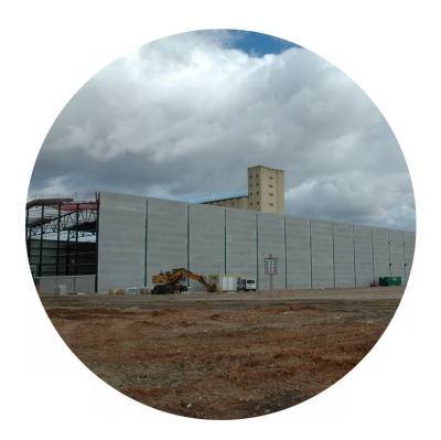 Obras de ejecución de la Central Hortofrutícola LA RASA (Grupo NUFRI) en El Burgo de Osma (Soria)