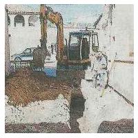 Garrofé SAU ejecuta las obras de Mejora del saneamiento de la Plaza Mayor en El Palau d'Anglesola.