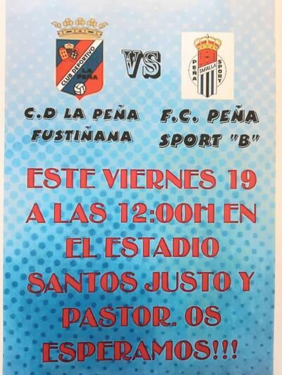 19 de Marzo.- Partido C.D.  La Peña