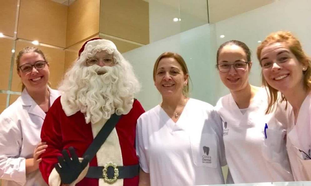 Papá Noel ha venido a la Clínica Dental Balaguer!