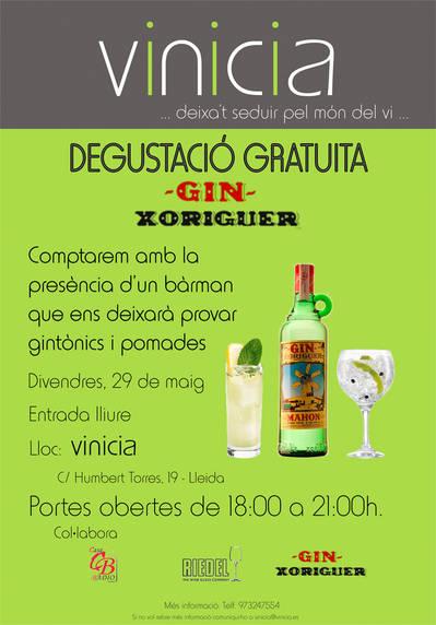 Degustació gratuïta de Gin Xoriguer