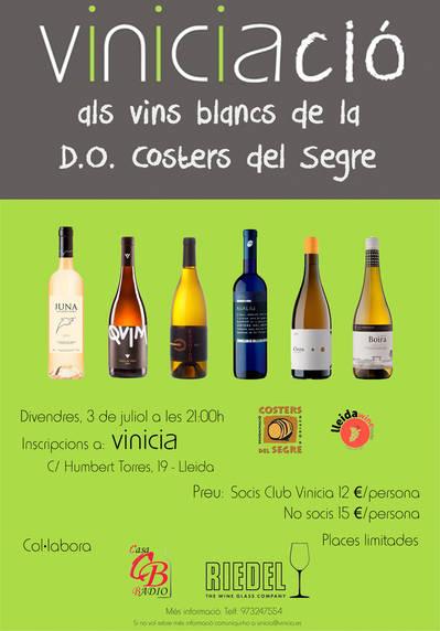 VINICIACIO ALS VINS BLANCS DE LA D.O. COSTERS DEL SEGRE