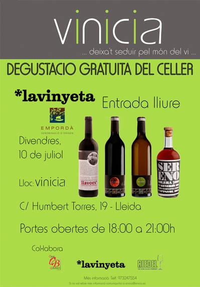 Degustació gratuïta del Celler Lavinyeta - D.O. Empordà