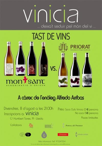 Tast de vins Montsant vs. Priorat