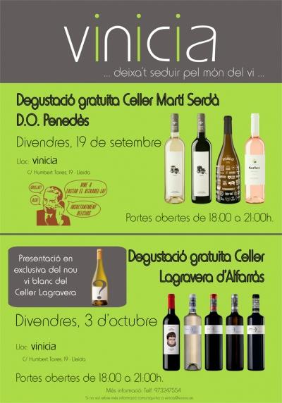 Degustació gratuita Celler Lagravera