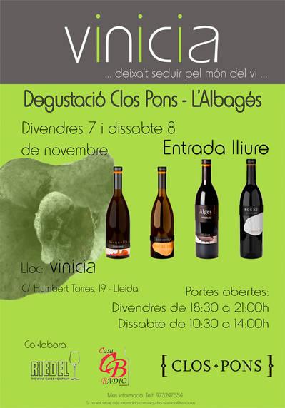 Degustació gratuita Celler Clos Pons