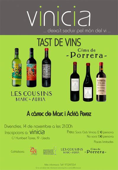 Tast de vins Celler Les Cousins i Cooperativa Agricola Cims de Porrera