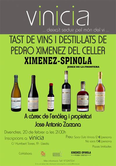 Tast de vins i destil·lats de Ximenez-Spinola