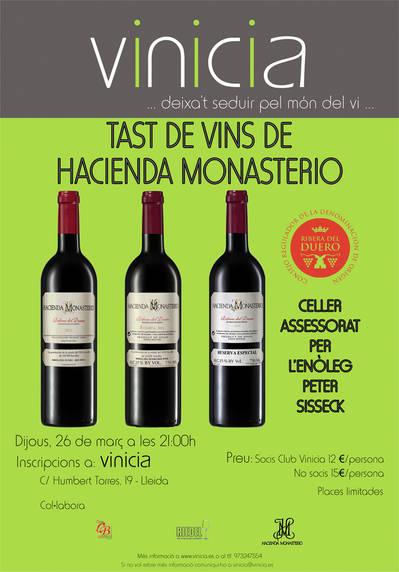 Tast de vins del Celler Hacienda Monasterio
