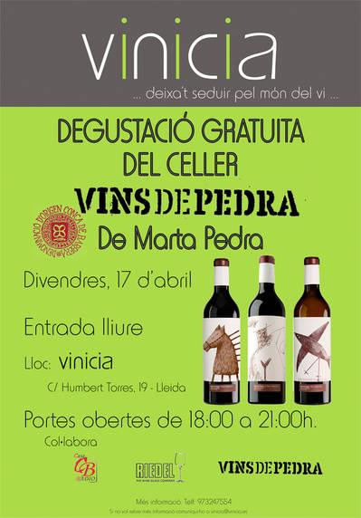 Degustació gratuïta del Celler Vins de Pedra de Marta Pedra