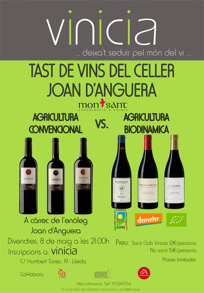 Tast de vins del Celler Joan d'Anguera  a càrrec de l'enòleg Joan d'Anguera