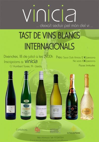 Tast de vins blancs internacionals