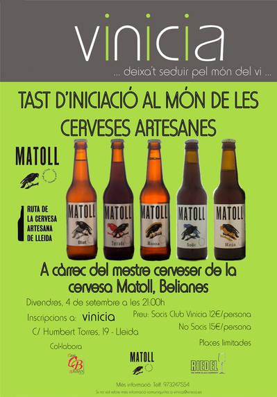 Tast d'inicicació al món de les cerveses artesanes