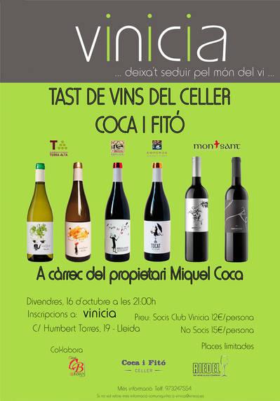 Tast de vins del Celler Coca i Fitó