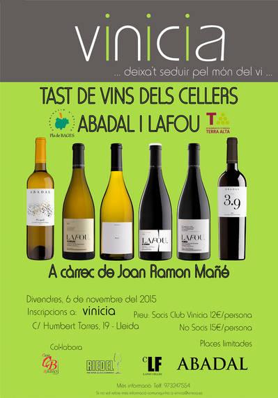 Tast de vins dels cellers Abadal i LaFou