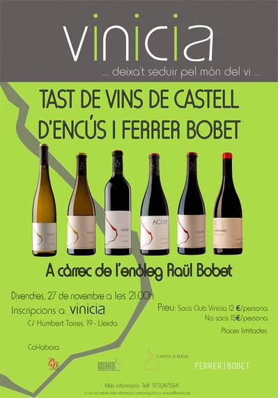 Tast de vins dels Cellers Castell d'Encús i Ferrer Bobet