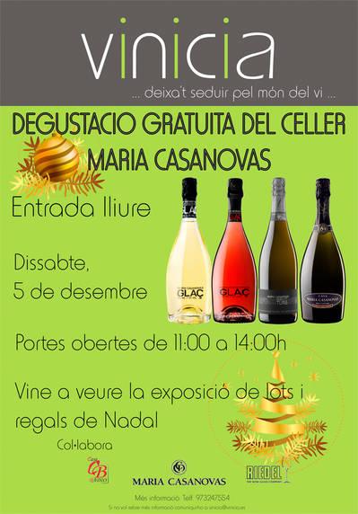 Degustació gratuïta de caves del Celler Maria Casanovas