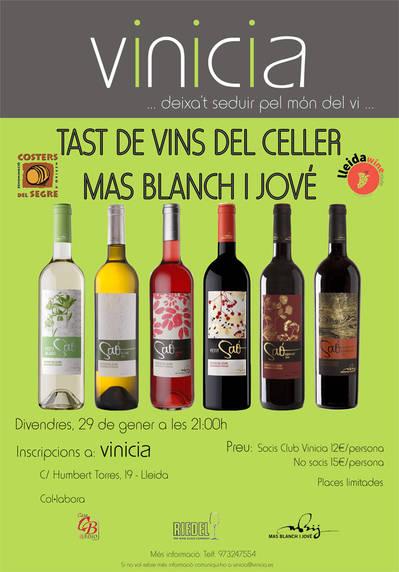 Tast de vins del celler Mas Blanch i Jové, La Pobla de Cérvoles