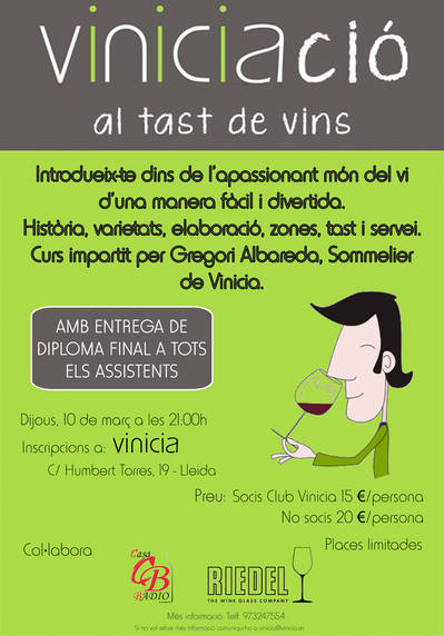 Viniciació al Tast de Vins