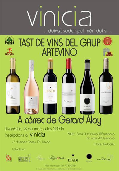 Tast de vins del Grup Artevino