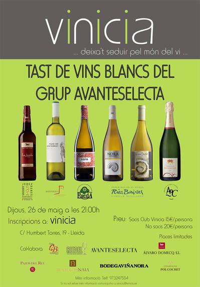 Tast de vins blancs del Grup Avanteselecta