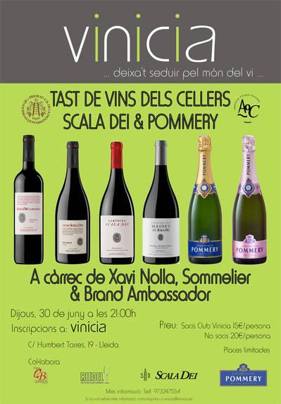 Tast de vins dels Cellers Scala Dei & Pommery
