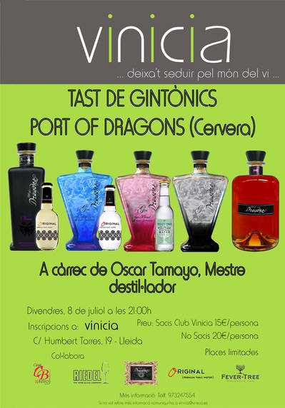 Tast de Gintònics de Port Of Dragons (Cervera)
