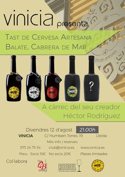 Tast de Cervesa Artesana Balate, Cabrera de Mar