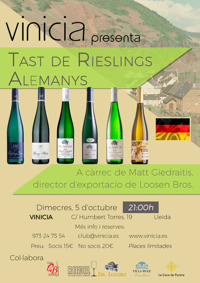 Tast de Rieslings Alemanys