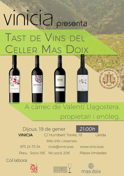 Tast de vins del Celler Mas Doix