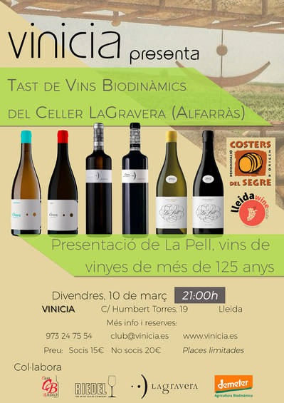 Tast de Vins Biodinàmics del Celler LaGravera (Alfarràs)