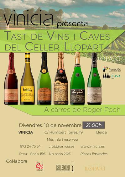 Tast de vins i caves del Celler Llopart