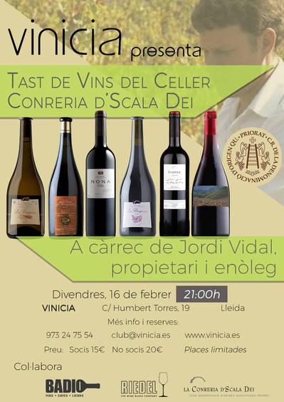 Tast de vins del Celler Conreria d'Scala Dei