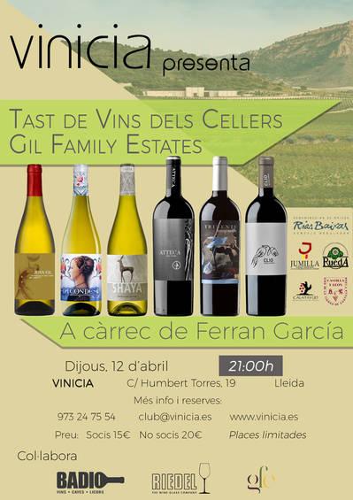 Tast de vins dels Cellers de Gil Family Estates