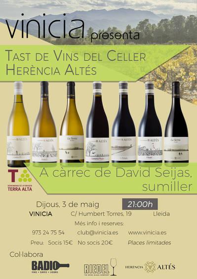 Tast de vins del Celler Herència Altés