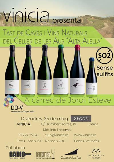 """Tast de caves i vins naturals del Celles de les Aus """"Alta Alella"""""""