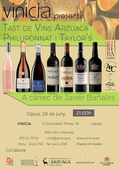 Tast de vins de Arzuaga, Champagne Philliponnat i Porto Taylor's